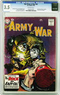 Silver Age (1956-1969):War, Our Army at War #81 (DC, 1959) CGC VG- 3.5 Off-white pages. Key stuff here for the DC war fan, namely one of the last protot...
