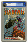 Silver Age (1956-1969):Superhero, Sea Devils #15 Pacific Coast pedigree (DC, 1964) CGC NM 9.4 Off-white to white pages. Irv Novick provided the art for this s...