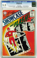 Silver Age (1956-1969):Superhero, Showcase #4 The Flash (DC, 1956) CGC FN- 5.5 Off-white pages. TheSilver Age was born with this issue, the first appearance ...