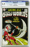 Silver Age (1956-1969):Science Fiction, Showcase #17 Adventures On Other Worlds (DC, 1958) CGC FN 6.0Off-white pages. Gardner Fox's planet-hopping hero Adam Strang...