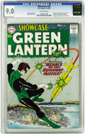 Silver Age (1956-1969):Superhero, Showcase #22 Green Lantern (DC, 1959) CGC VF/NM 9.0 Off-whitepages. Feast your eyes on this, Silver Age fans, it's the sole...