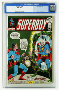 Superboy #184 (DC, 1972) CGC NM+ 9.6 White pages. Nick Cardy cover. Murphy Anderson, Bob Brown, and Jim Mooney art. Over...