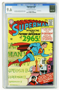 """Superman #181 (DC, 1965) CGC NM+ 9.6 Off-white to white pages. First """"2965"""" story. Curt Swan cover and art. Ov..."""