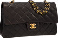 Luxury Accessories:Bags, Chanel Brown Quilted Lambskin Leather Medium Double Flap Bag withGold Hardware. ...