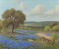 Texas:Early Texas Art - Regionalists, PORFIRIO SALINAS (American, 1910-1973). Bluebonnet Country,1959. Oil on canvas. 20 x 24 inches (50.8 x 61.0 cm). Signed...