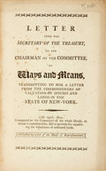 Books:Americana & American History, United States: LETTER FROM THE SECRETARY OF THE TREASURY, TO THECHAIRMAN OF THE COMMITTEE, OF WAYS AND MEANS, TRANSMITTING TO...