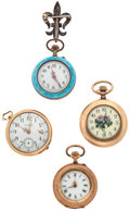 Timepieces:Pocket (post 1900), A Lot Of Four Lady's Pocket Watches. ... (Total: 4 Items)