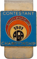 Golf Collectibles:Medals/Jewelry, 1981 PGA Championship Contestant Money Clip From The Sam SneadCollection....