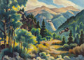 Fine Art - Painting, American:Contemporary   (1950 to present)  , GENE KLOSS (American, 1903-1996). High in the Rockies.Watercolor and pencil on paper. 19 x 25-3/4 inches (48.3 x 65.4c...