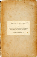 "Books:Americana & American History, [Anti-Slavery]. James Grahame. Who is to Blame? Or, CursoryReview of ""American Apology for American Accession to Negro ..."