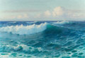 Fine Art - Painting, American:Modern  (1900 1949)  , LIONEL WALDEN (American, 1861-1933). Breaking Waves. Oil oncanvas. 26-1/4 x 38-3/8 inches (66.7 x 97.5 cm). Signed lowe...