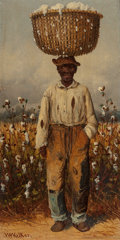 Paintings, WILLIAM AIKEN WALKER (American, 1838-1921). Cotton Picker. Oil on board. 8-1/2 x 4-1/2 inches (21.6 x 11.4 cm). Signed w...