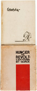 Books:Art & Architecture, [Political Cartoons]. [Jacob Burck]. Hunger and Revolt: Cartoons by Burck. [New York:] The Daily Worker, 1935. No ed... (Total: 2 Items)