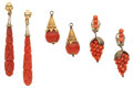 Estate Jewelry:Lots, Lot of Coral, Gold, Silver, Base Metal Jewelry. ...