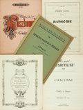 Books:Music & Sheet Music, [Sheet Music]. Group of Five Sets of Sheet Music for Strings and/or Piano. Various publisher's and dates. Large octavos. Pub... (Total: 5 Items)
