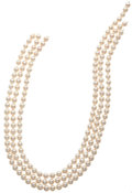 Estate Jewelry:Pearls, Cultured Pearl Strands. ... (Total: 3 Items)