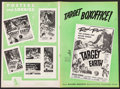 "Movie Posters:Science Fiction, Target Earth & Other Lot (Allied Artists, 1954). Uncut Pressbooks (2) (Multiple Pages, 12"" X 17.5"" & 12"" X 18""). Science Fic... (Total: 2 Items)"