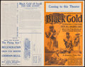 "Movie Posters:Black Films, Black Gold (Norman, 1928). Uncut Pressbook (4 Pages, 14"" X 22"").Black Films.. ..."