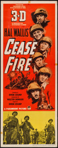 "Movie Posters:War, Cease Fire! (Paramount, 1953). Insert (14"" X 36""), Window Card (14""X 22""), & Lobby Card Set of 8 (11"" X 14"") All 3-D styles...(Total: 10 Items)"