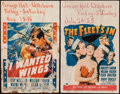 "Movie Posters:War, I Wanted Wings & Others Lot (Paramount, 1941). Window Cards (6)(14"" X 22""). War.. ... (Total: 6 Items)"