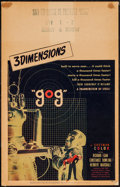 "Movie Posters:Science Fiction, Gog (United Artists, 1954). Window Card (14"" X 22""). ScienceFiction.. ..."