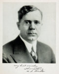 """Miscellaneous:Ephemera, Huey P. Long Photograph with Printed Signature. 8"""" x 10"""". Theone-time senator and governor of the state of Louisiana, who w..."""