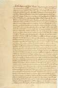 "Miscellaneous:Ephemera, Eighteenth Century Document. Three and a half pages, 10.25"" x15.5"", [England], April 23, 1773, being the last will and test..."