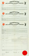 "Miscellaneous:Ephemera, Group of Three Life Insurance Policies, circa 1961. Eachpolicy, made to ""Jeremy Mansfield of 'Smugglers,'"" ...(Total: 3 Items)"