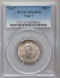 Standing Liberty Quarters: , 1917 25C Type One MS64 Full Head PCGS. PCGS Population (1791/1544).NGC Census: (1303/1114). Mintage: 8,740,000. Numismedia...
