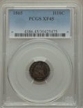 Seated Half Dimes: , 1865 H10C XF45 PCGS. PCGS Population (5/57). NGC Census: (2/45). Mintage: 13,000. Numismedia Wsl. Price for problem free NG...
