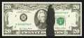 Error Notes:Ink Smears, Fr. 2072-B $20 1977 Federal Reserve Note. Choice CrispUncirculated.. ...