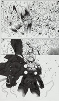 Original Comic Art:Splash Pages, Olivier Coipel and Mark Morales The Mighty Thor #4Half-Splash Page 21 Original Art (Marvel, 2011)....