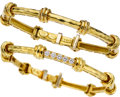Estate Jewelry:Bracelets, Henry Dunay Diamond, Gold Bracelets. ... (Total: 2 Items)