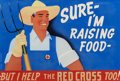 Mainstream Illustration, TERRY TOWNSEND (American, 20th Century). Sure I'm Raising Food,Red Cross poster illustration, circa 1940s. Gouache on b...