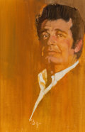 Mainstream Illustration, BERNARD FUCHS (American, 1932-2009). James Garner, TV Guidecover, circa late 1970s. Acrylic and pencil on canvas laid o...