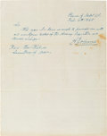 Autographs:U.S. Presidents, Andrew Johnson Autograph Letter Signed...