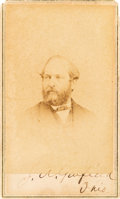 Autographs:U.S. Presidents, James A. Garfield Carte de Visite Signed....