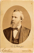 Autographs:U.S. Presidents, Rutherford B. Hayes Cabinet Card Signed...