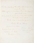 Autographs:Authors, Julia Ward Howe Autograph Quotation From The Battle Hymn of theRepublic Twice Signed....