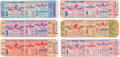 Baseball Collectibles:Tickets, 1950-58 New York Yankees World Series Full Tickets Lot of 6. ...