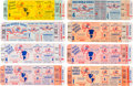 Baseball Collectibles:Tickets, 1960-64 New York Yankees World Series Full Tickets Lot of 8. ...