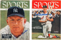Baseball Collectibles:Publications, 1955-56 Mickey Mantle & Ted Williams Signed Magazines. ...