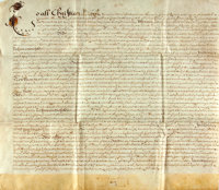 Vellum Land Indenture in the Reign of Charles II. Hampshire Romsey, 1863. Lease of property by Humphrey Fr