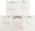 Autographs:Letters, 1932-42 Baseball Executives Signed Letters Lot of 31....