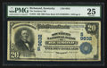 National Bank Notes:Kentucky, Richmond, KY - $20 1902 Date Back Fr. 645 The Southern NB Ch. #(S)9832. ...