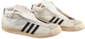 Baseball Collectibles:Others, 1982 Bob McAdoo Game Worn Los Angeles Lakers Shoes - Used in Finals Clinching Game 6 Performance. ...