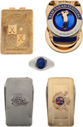 Golf Collectibles:Medals/Jewelry, Four Money Clips/Pen Knives and Ring From The Sam SneadCollection....