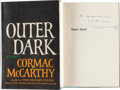 Books:Literature 1900-up, Cormac McCarthy. Outer Dark. New York: Random House, [1968].First edition of McCarthy's second novel. Presentatio...