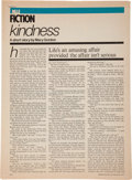 Books:Manuscripts, Mary Gordon. Kindness. [New York: 1977]. Corrected GalleyProofs. Fourteen leaves, rectos only. Approximately 11 x 8...