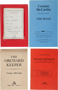 Cormac McCarthy. Collection of Eleven Advance Uncorrected Proof Copies. New York and London: Random House, Alfred A